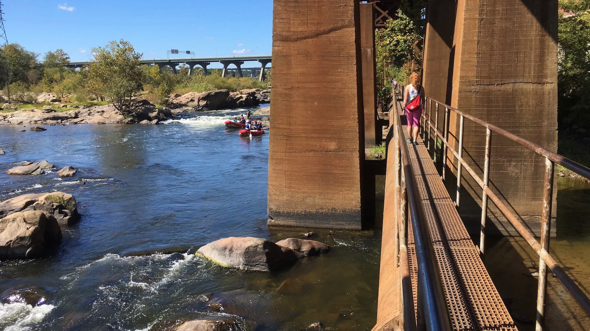 The James River Park Pipeline Walkway is a secluded natural adventure nestled over the river in downtown Richmond. It's where RVA began, see our tour!