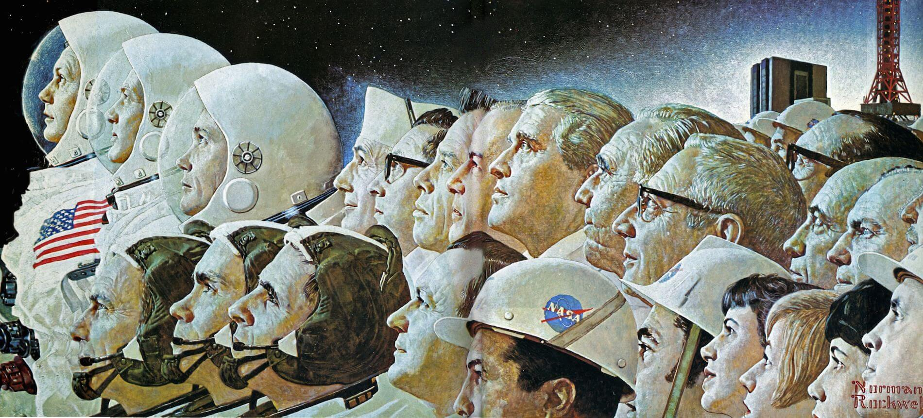 Apollo Space Program 1969 Norman Rockwell Art